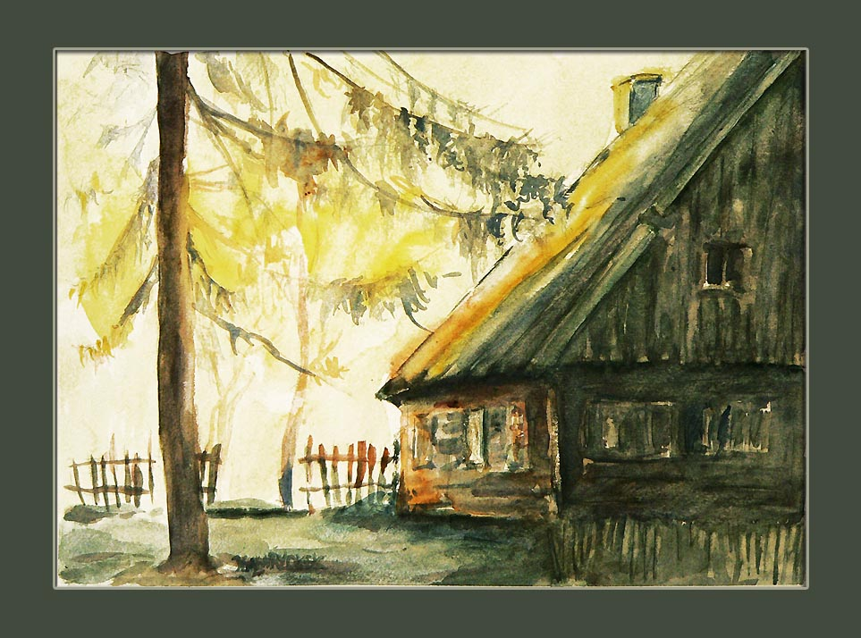 chata o wschodzie
