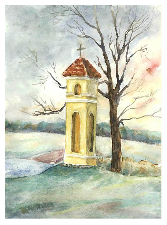 kapliczka i drzewo